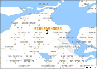 map of Schmedshagen