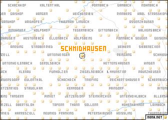 map of Schmidhausen