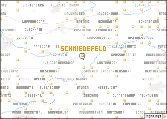 map of Schmiedefeld