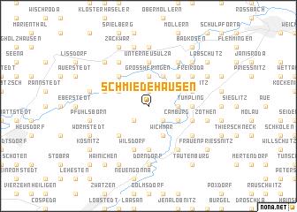 map of Schmiedehausen