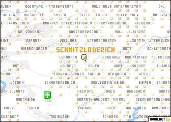 map of Schmitzlöderich