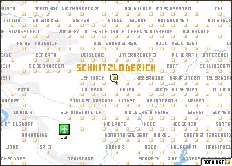 map of Schmitzlöderich