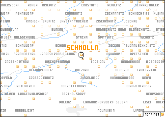 map of Schmölln