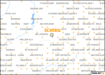 map of Schnaid