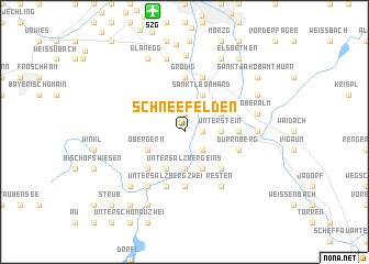 map of Schneefelden