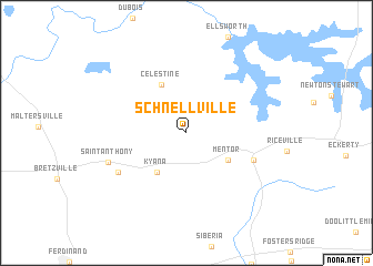 map of Schnellville