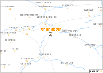 map of Schoharie
