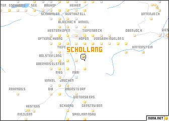 map of Schöllang