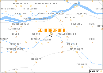 map of Schönabrunn
