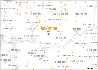 map of Schönau