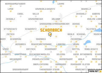 map of Schönbach