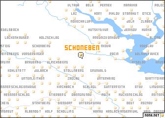 map of Schöneben