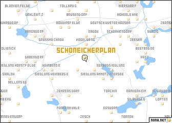map of Schöneicher Plan
