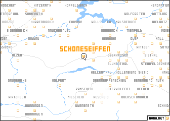 map of Schöneseiffen