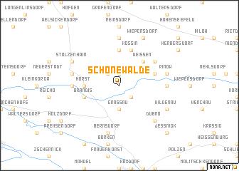 map of Schönewalde