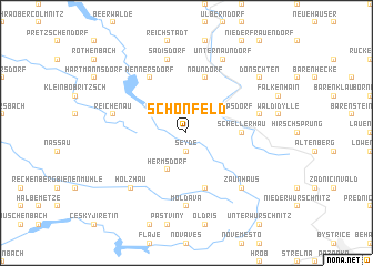 map of Schönfeld