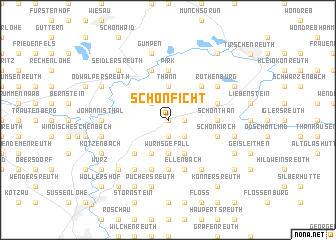 map of Schönficht