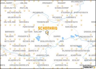 map of Schönhaid