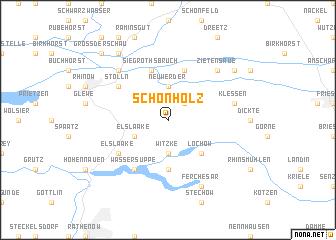 map of Schönholz