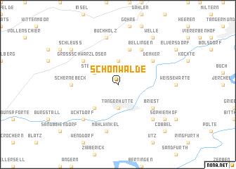 map of Schönwalde