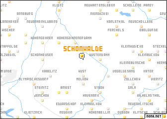 map of Schönwalde