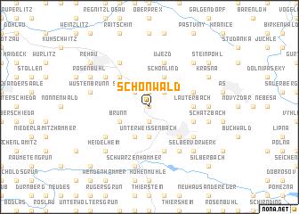 map of Schönwald