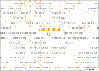 map of Schönwald