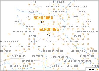 map of Schönweg