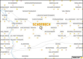 map of Schorbach