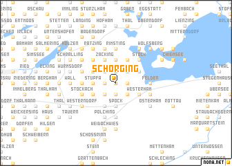 map of Schörging