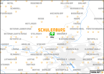 map of Schulenburg