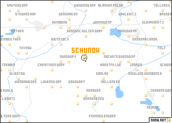 map of Schünow