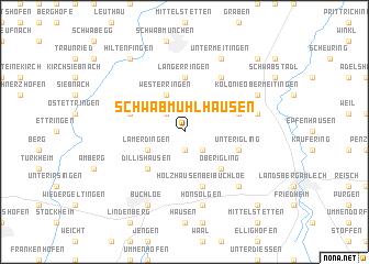 map of Schwabmühlhausen