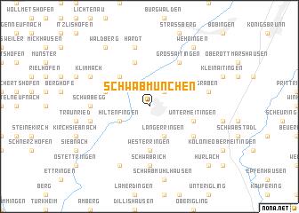 map of Schwabmünchen