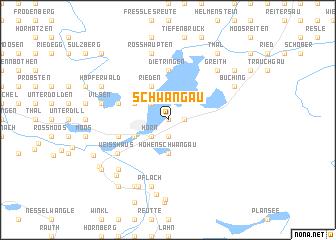 Schwangau (Germany) map   nona.net