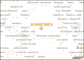 map of Schwarzbach