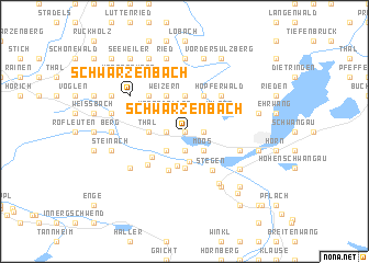 map of Schwarzenbach