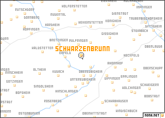 map of Schwarzenbrunn
