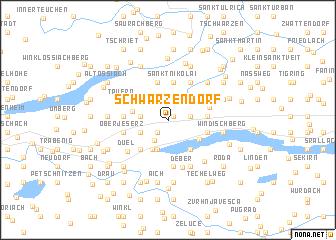 map of Schwarzendorf