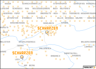 map of Schwarzen