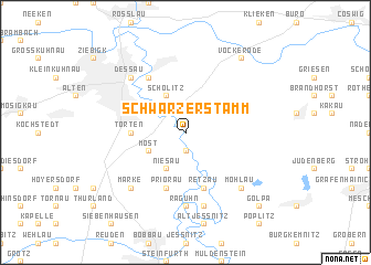 map of Schwarzer Stamm