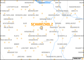 map of Schwarzholz