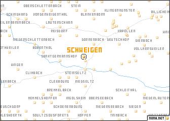 map of Schweigen