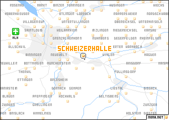 map of Schweizerhalle