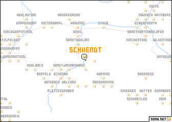 map of Schwendt