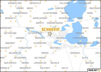 Schwerin Germany map nonanet