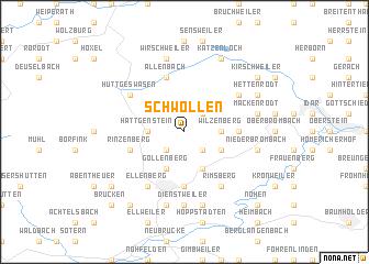 map of Schwollen