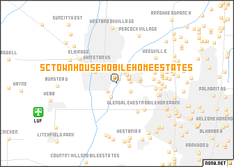 map of S C Townhouse Mobile Home Estates