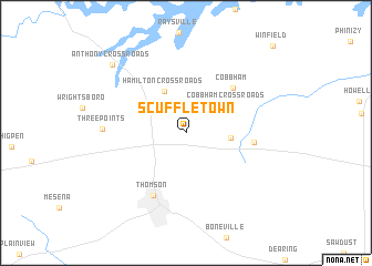 map of Scuffletown
