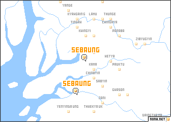 map of Sebaung